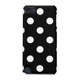 Black and White Polka Dots Pattern iPod Touch (5th Generation) Covers