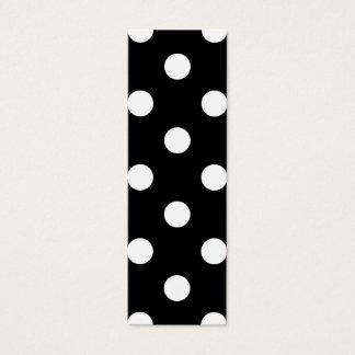Black and White Polka Dots Pattern Mini Business Card