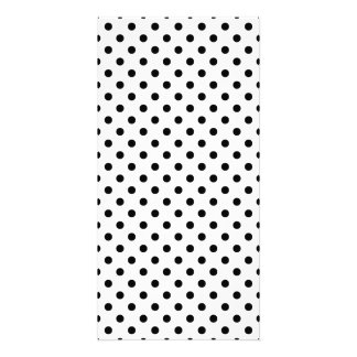 Black and White Polka Dots Pattern Picture Card