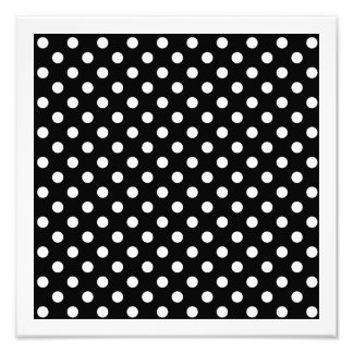 Black and White Polka Dots Photo Print