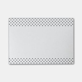 Black and White Polka Dots Post-it Notes