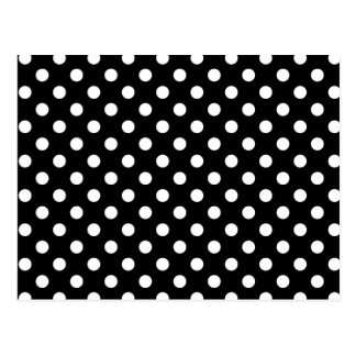 Black and White Polka Dots Postcard
