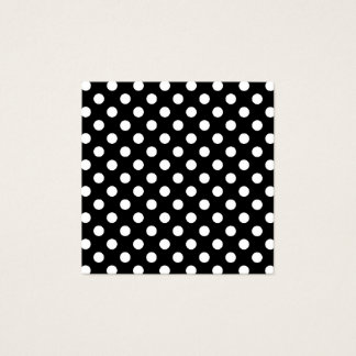 Black and White Polka Dots Square Business Card
