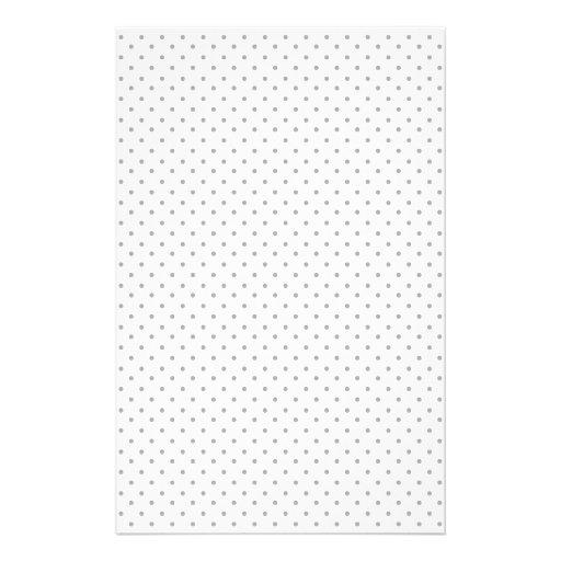 Black and White Polka Dots Stationery