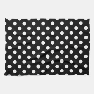 Black and White Polka Dots Tea Towel