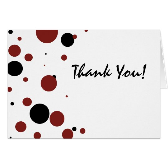 Black and white Polka Dots Thank You Card