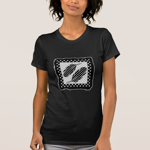 Black and White Polka Dots T Shirt