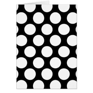 Black and White Polkadot Card