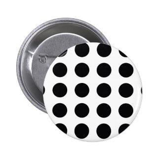 black and white polkadot dream 6 cm round badge