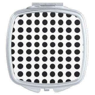 black and white polkadot dream compact mirrors