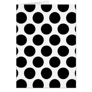 Black and White Polkadot pattern Card