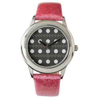 Black and White Polkadots Wristwatches