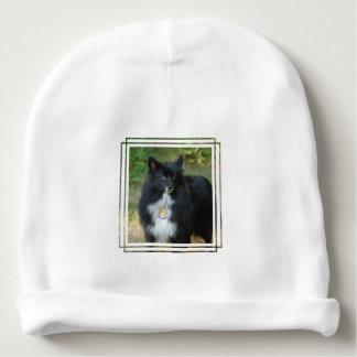 Black and White Pomeranian Baby Beanie