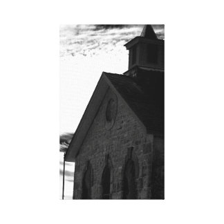 Black and white print gallery wrap canvas