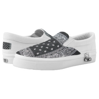 black and white print shoe printed shoes