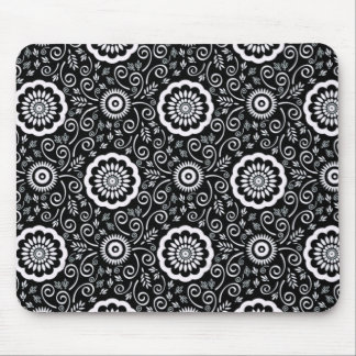 Black and White Printed Mouse Pad