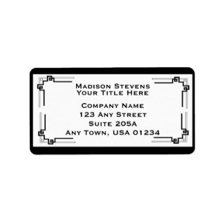 Black and White Professional Address Labels