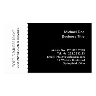 Black and White Professional Pack Of Standard Business Cards