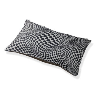 Black and White Psychedelic Doggie Bed