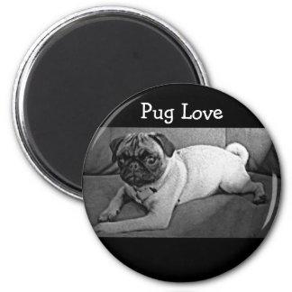 Black and White Pug Magnet