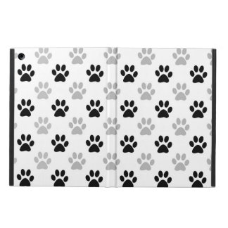 Black and white puppy paw prints pattern case for iPad air