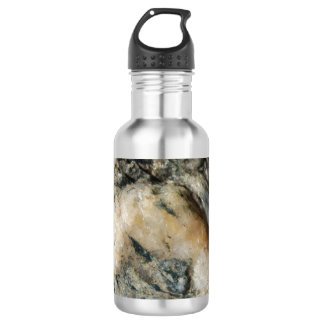 Black and White Quartz Mineral Texture 532 Ml Water Bottle