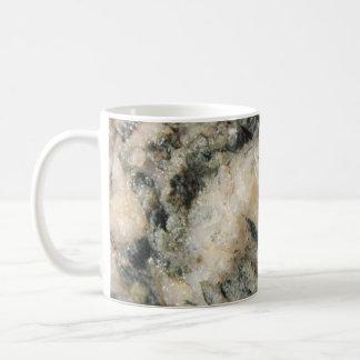 Black and White Quartz Mineral Texture Coffee Mug