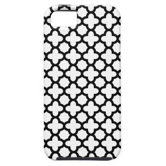 Black and White Quatrefoil Tough iPhone 5 Case