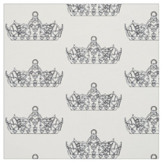 black and white queen of hearts crown tiara fabric