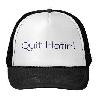 Black and White Quit Hatin Trucker Hat