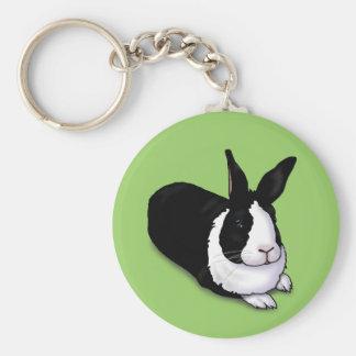 Black and White Rabbit Keychains