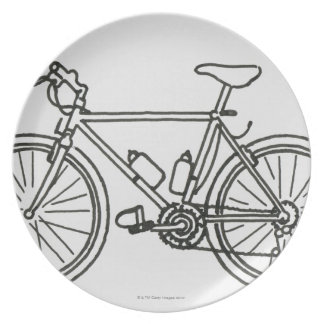Black and White Race Plate
