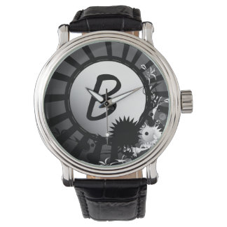 Black and White Radial Monogram | Watch