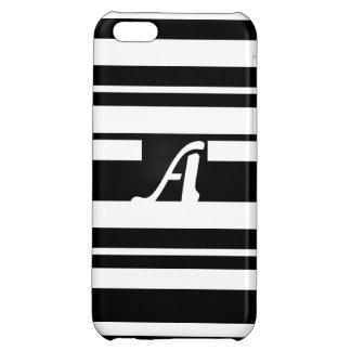 Black and White Random Stripes Monogram Case For iPhone 5C