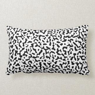 Black and White Randomness Lumbar Pillow