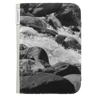 Black and White Rapids Kindle Case