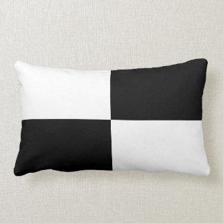 Black and White Rectangles Lumbar Pillow