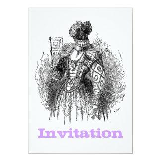 Black And White Renaissance Fashion 13 Cm X 18 Cm Invitation Card