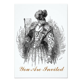 Black And White Renaissance Fashion Card