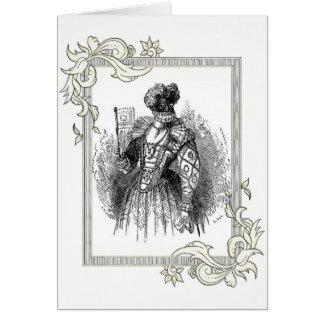 Black And White Renaissance Fashion Card
