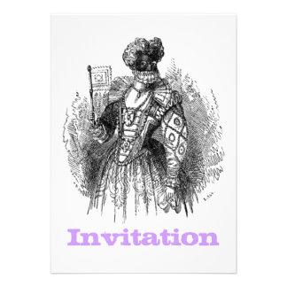 Black And White Renaissance Fashion Invites