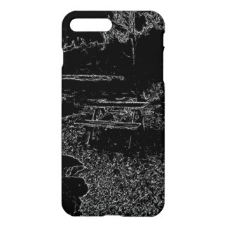 black and white resting place drawing iPhone 7 plus case