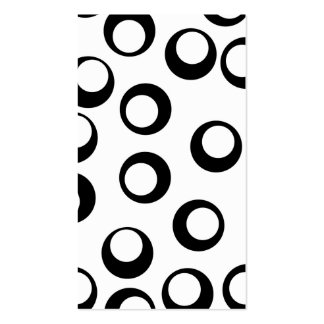 Black and White Retro Circles Pattern. Business Card