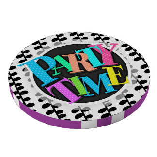 Black and White Retro Leaves Set Of Poker Chips