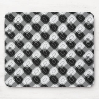 Black and white retro pattern mouse pad