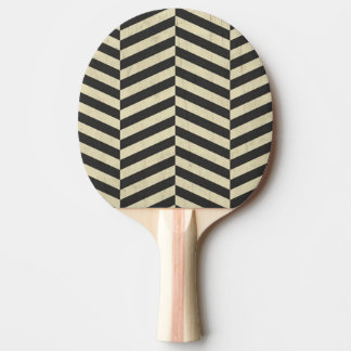Black and White Retro Stripes Pattern Ping Pong Paddle