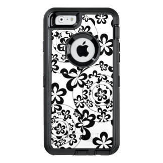 Black and White Rings and Flowers OtterBox iPhone 6/6s Case