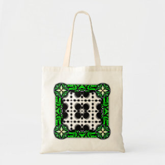 Black and White Ripples Big Inverted Tote Bags