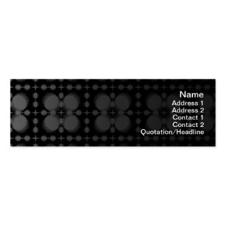 Black and White Ripples Small Business Card Templates