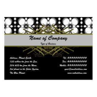 Black and White Ripples Small Business Card Template